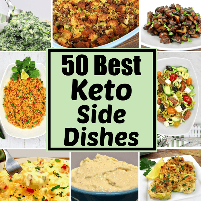 collage of keto side dishes