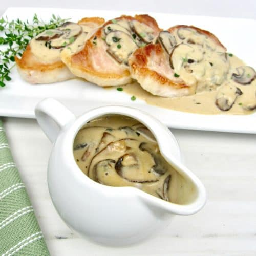 Creamy Mushroom Gravy Keto and Low Carb
