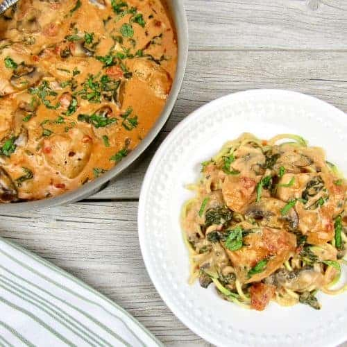 Creamy Tuscan Chicken Skillet-Keto and Low Carb