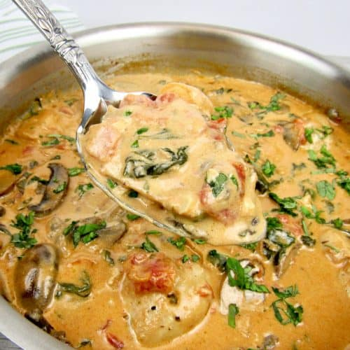 Creamy Tuscan Chicken Skillet - Keto and Low Carb
