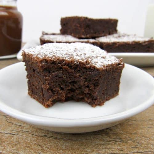 Sugar-Free Nutella Brownies-Keto, Low Carb & Gluten Free