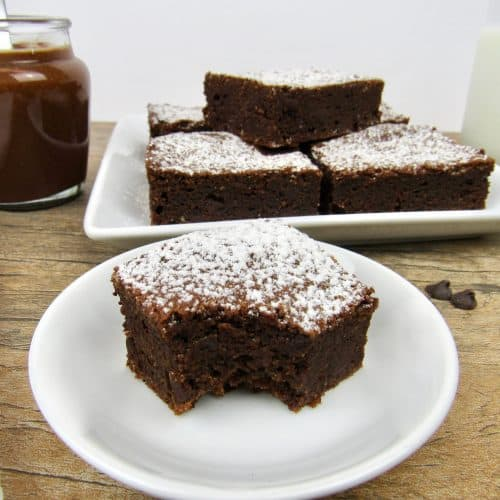 Sugar-Free Nutella Brownies-Keto, Low Carb & Gluten Free