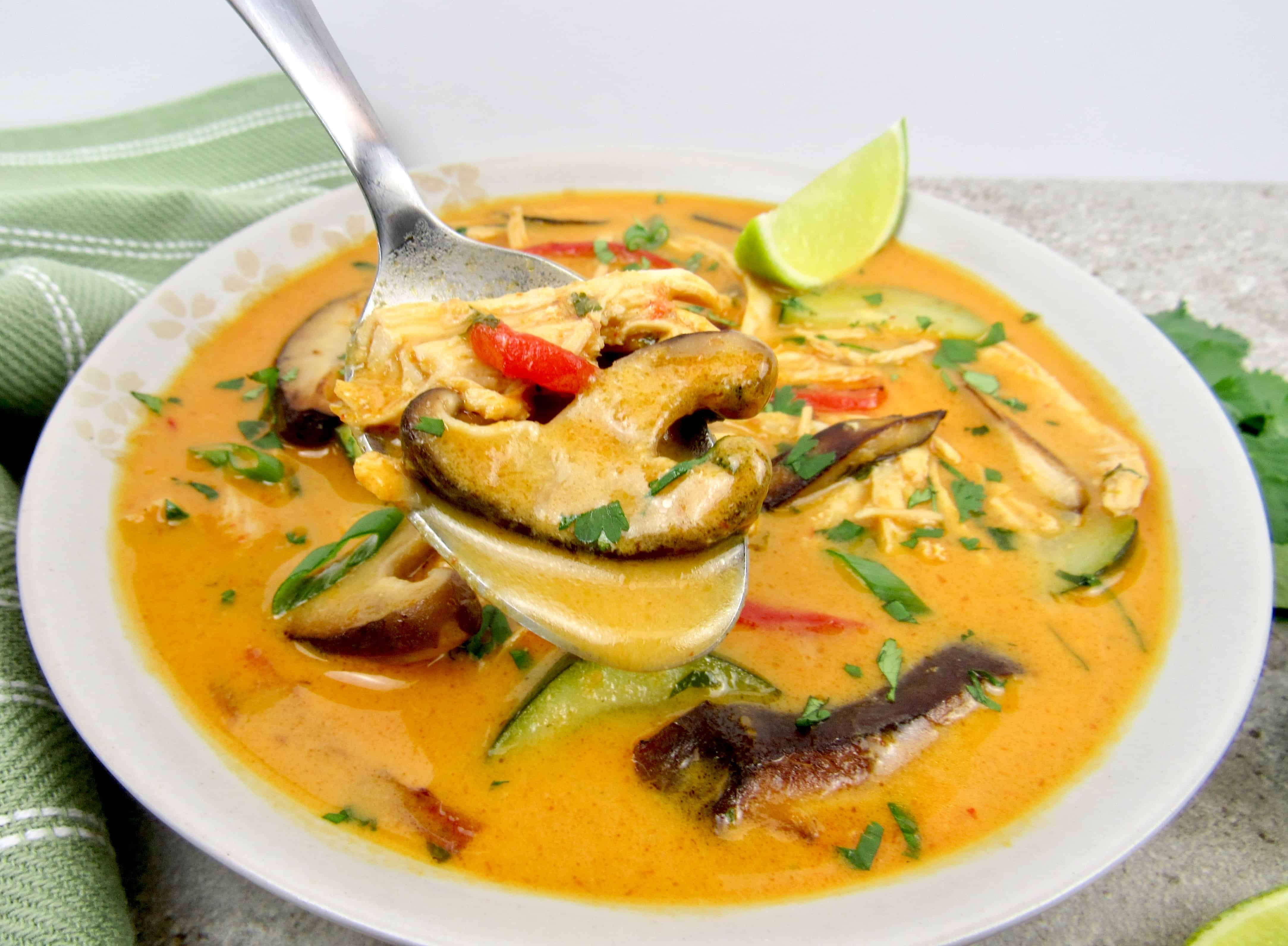 Thai Coconut Curry Chicken Soup Keto Cooking Christian