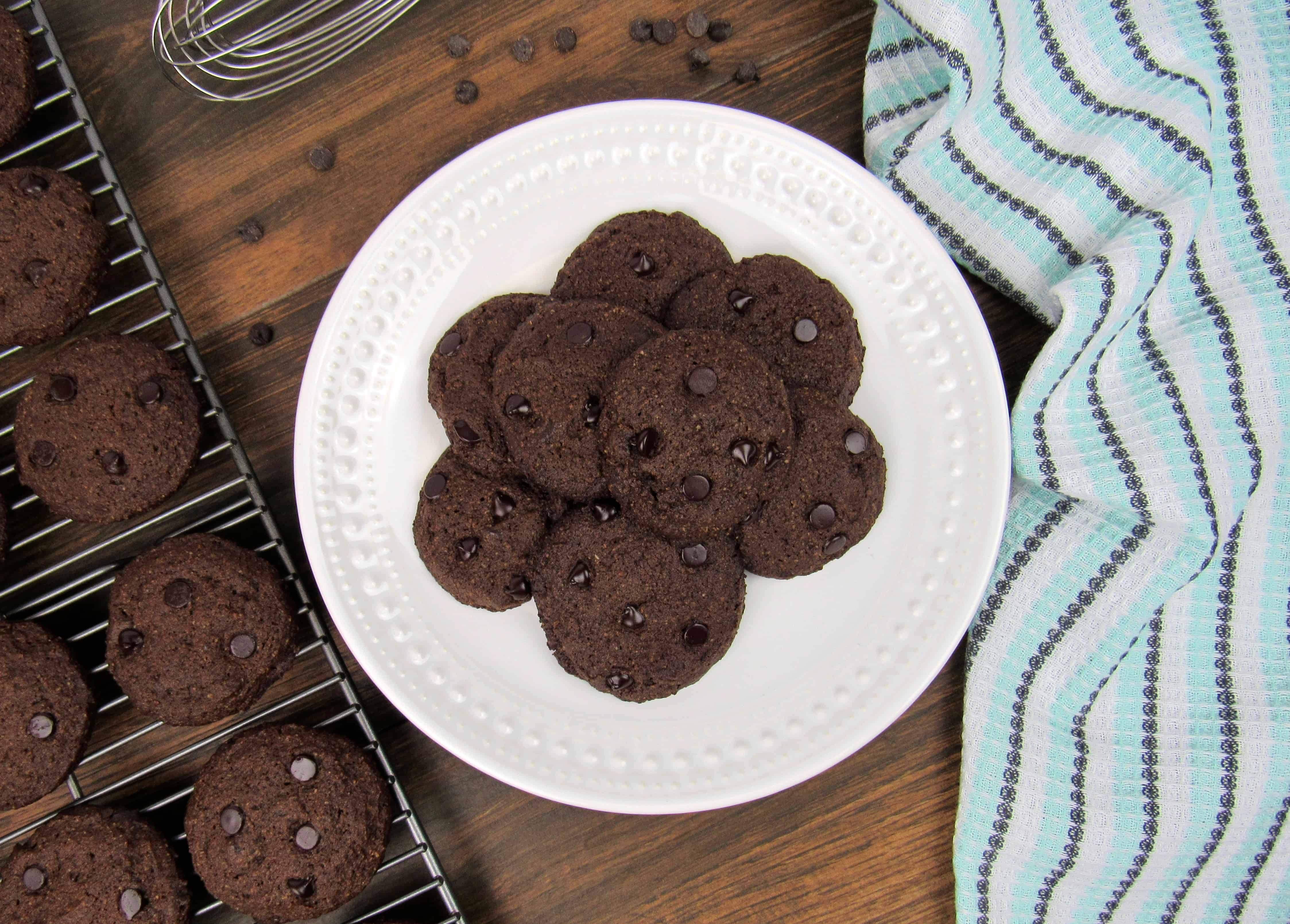 Double Chocolate Chip Cookies- Keto, Low Carb & Gluten Free