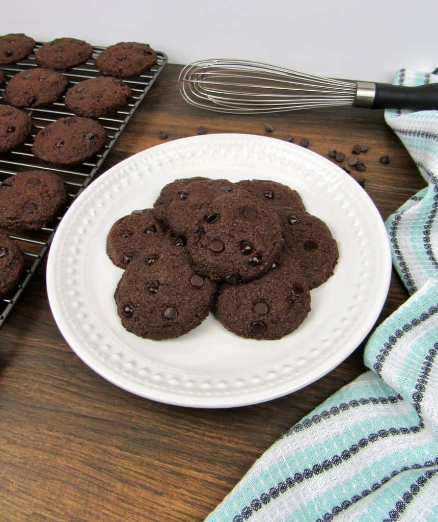 Double Chocolate Chip Cookies - Keto, Low Carb & Gluten Free