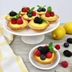 Mini Lemon Curd Tarts - Keto, Low Carb & Gluten Free