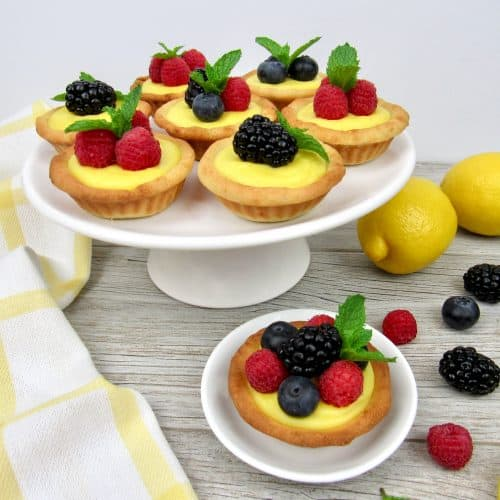 Mini Lemon Curd Tarts - Keto, Low Carb & Gluten Free
