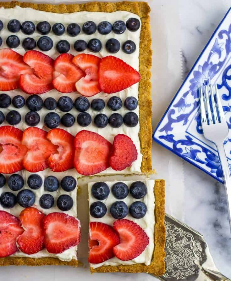 Red, White and Blue Cheesecake Red, White and Blue Cheesecake Tart