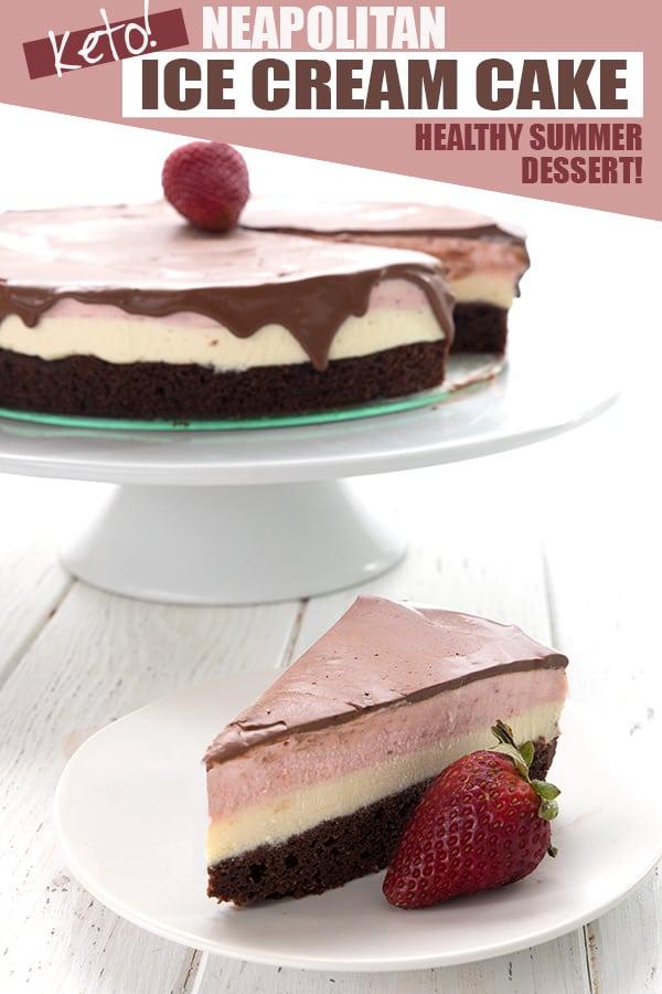 Neapolitan Ice Cream Cake - Keto Recipe