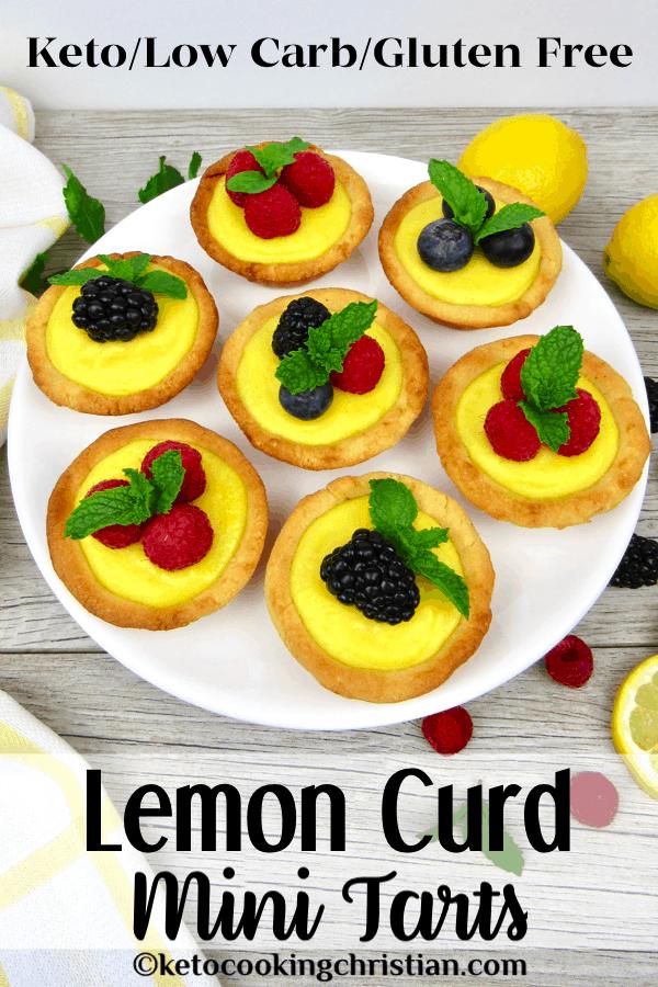 PIN Keto lemon curd tarts