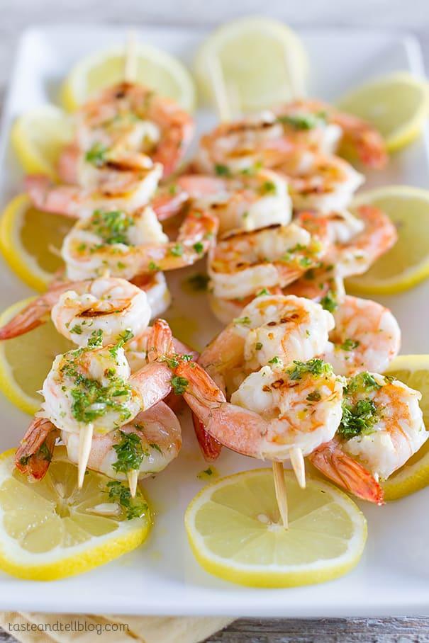 Lemon Shrimp Kabobs - Taste and Tell