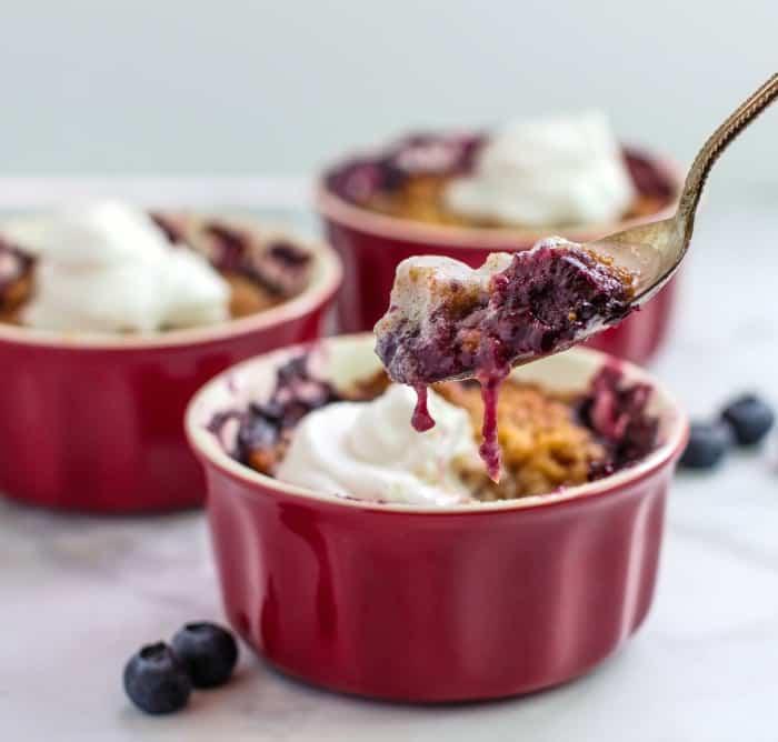 Keto Mixed Berry Crumble Pots