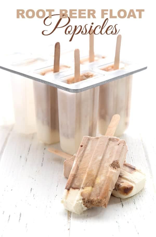 Root Beer Float Popsicles - Keto Recipe