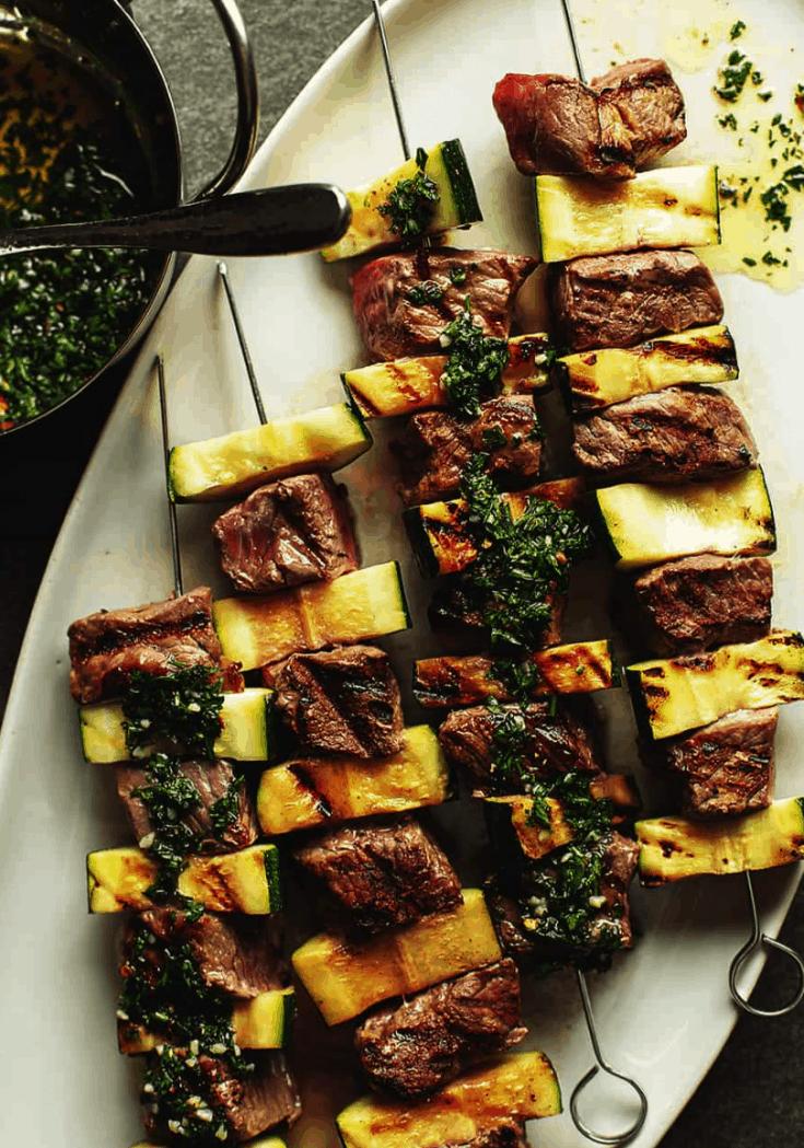 Steak Shish Kabob with Chimichurri