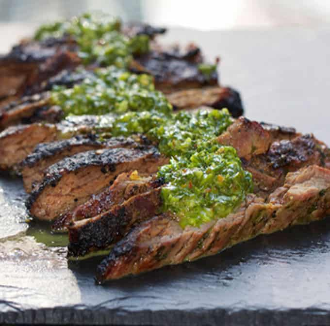 Grilled Skirt Steak with Chimichurri Sauce: A Favorite from Argentina!