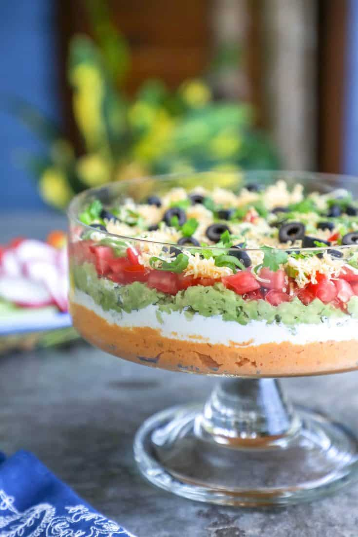 Keto Mexican 7 Layer Dip - Low Carb