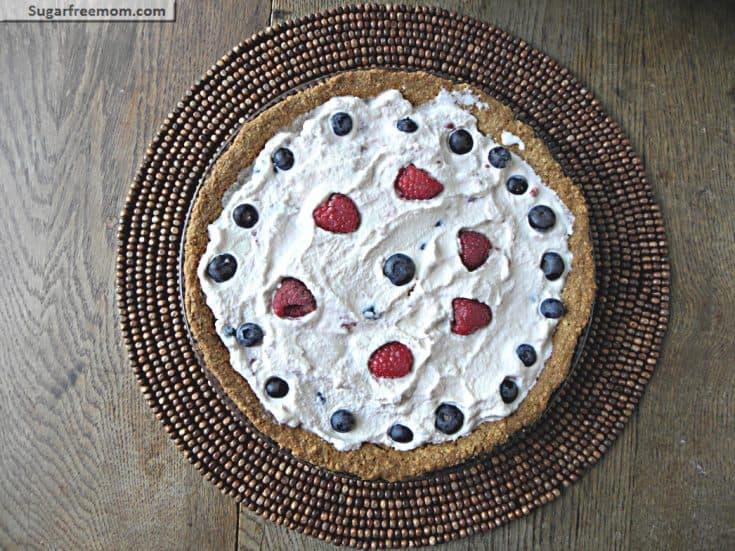 Red White & Blue Frozen Lemonade Pie: { No Sugar Added, Gluten & Nut Free}