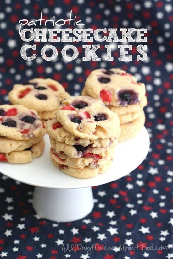 Patriotic Cheesecake Cookies