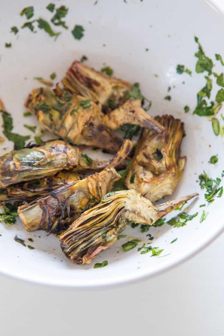 Roasted Artichoke Hearts - Sicilian recipe that totally respects the artichoke