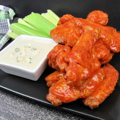 Crispy Air Fryer Buffalo Wings - Keto and Low Carb