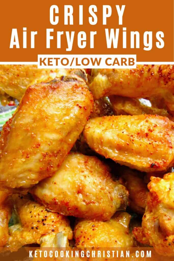 PIN Crispy Air Fryer Buffalo Wings - Keto and Low Carb
