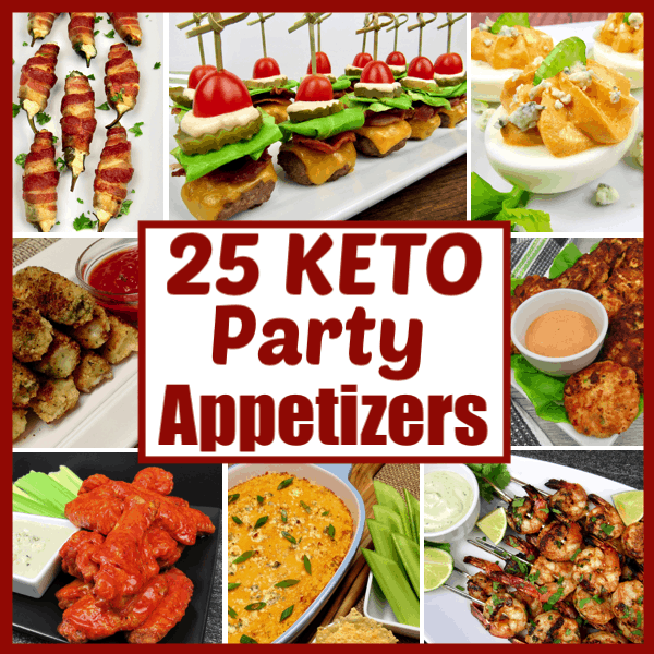 Text 25 Keto Party Appetizers