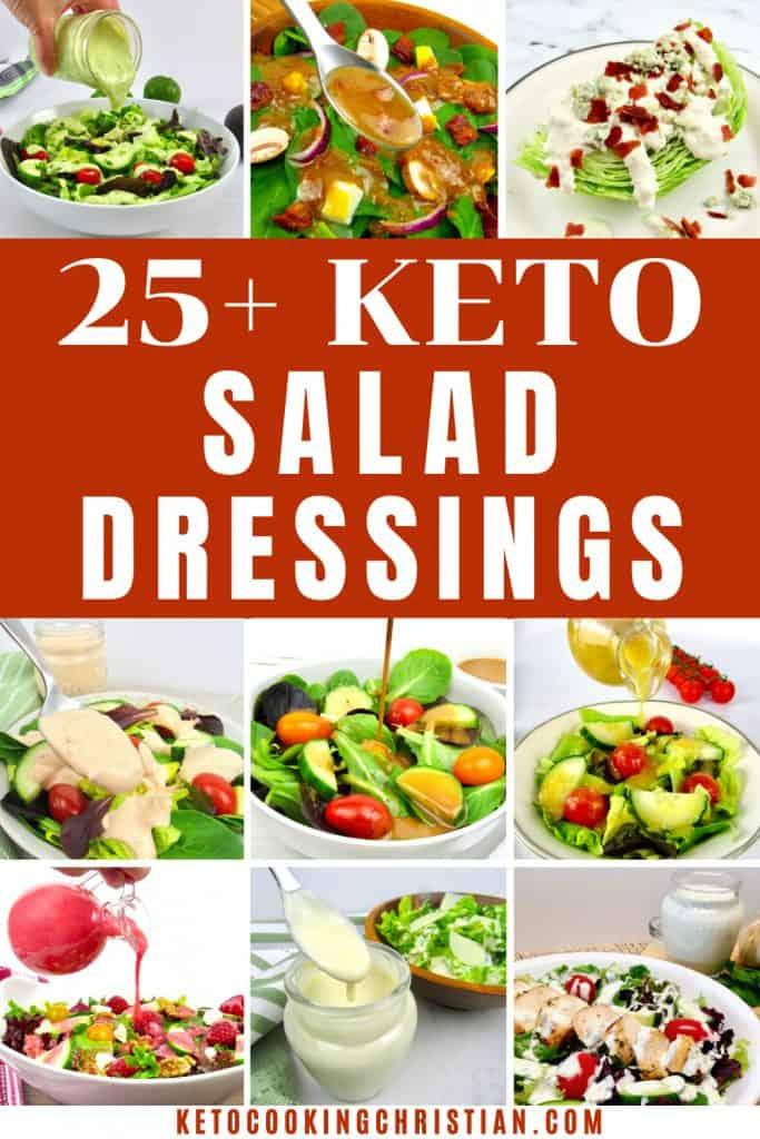 25+ Keto Salad Dressing Recipes pin
