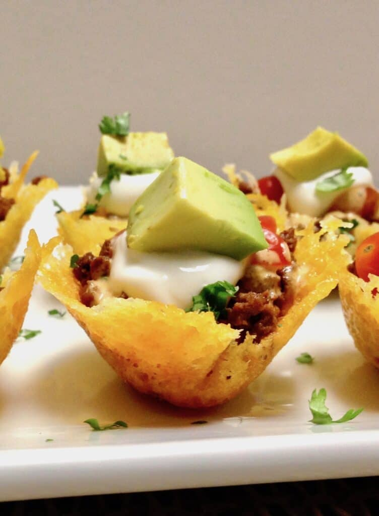 Mini Taco Bites - Keto and Low Carb on Plate