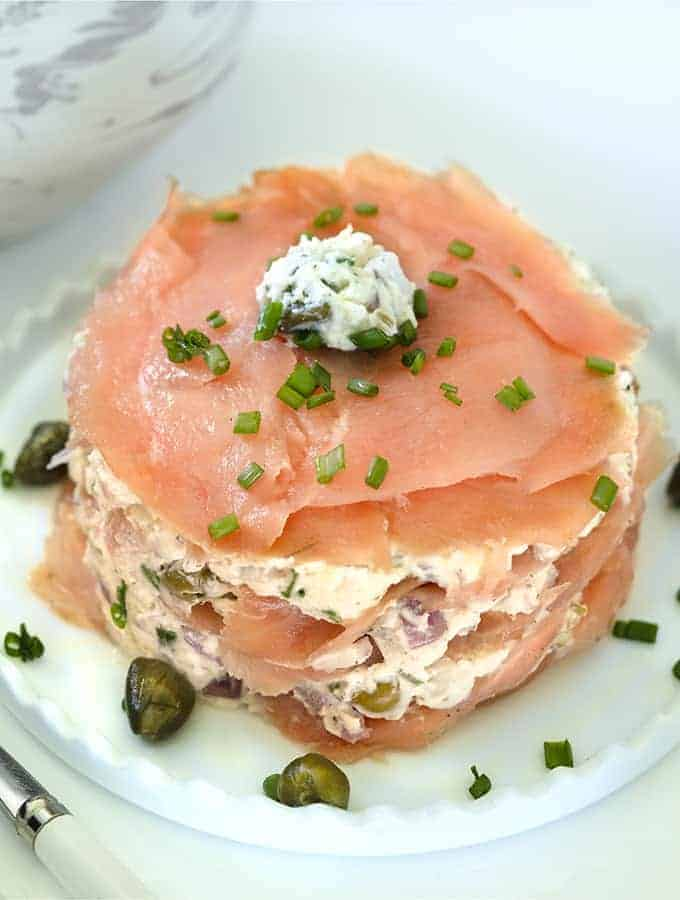 Smoked Salmon and Cheese Timbale