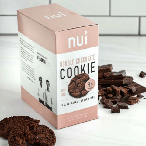 Nui Double Chocolate Cookies and Box