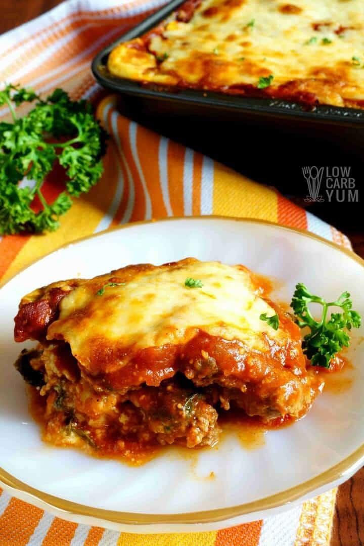 Keto Lasagna with Meatza Layers