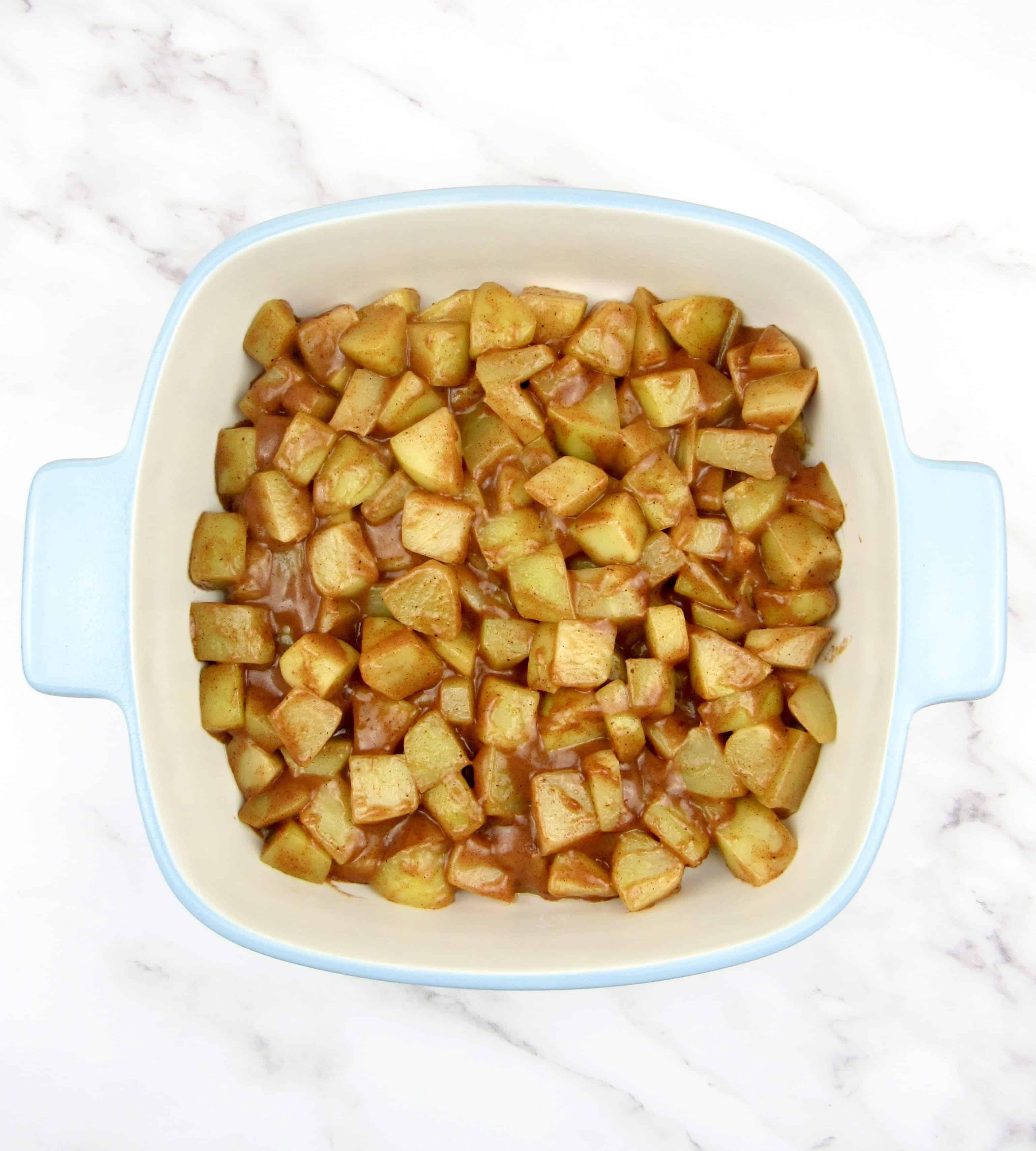 mock apple filling in casserole
