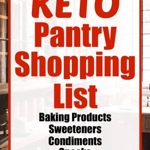 Keto Pantry Shopping List text