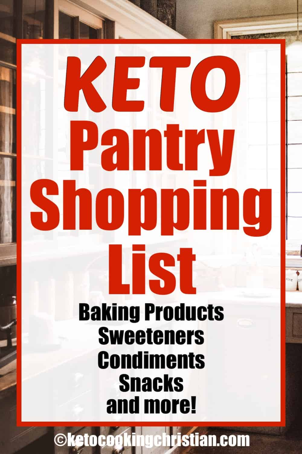 Keto Pantry Shopping List text