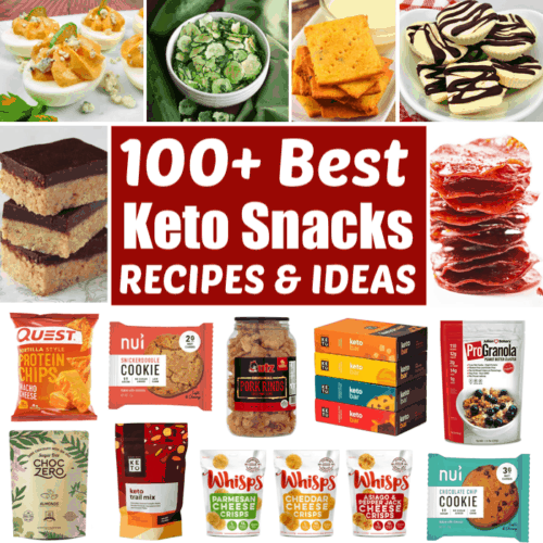 collage of Keto snacks
