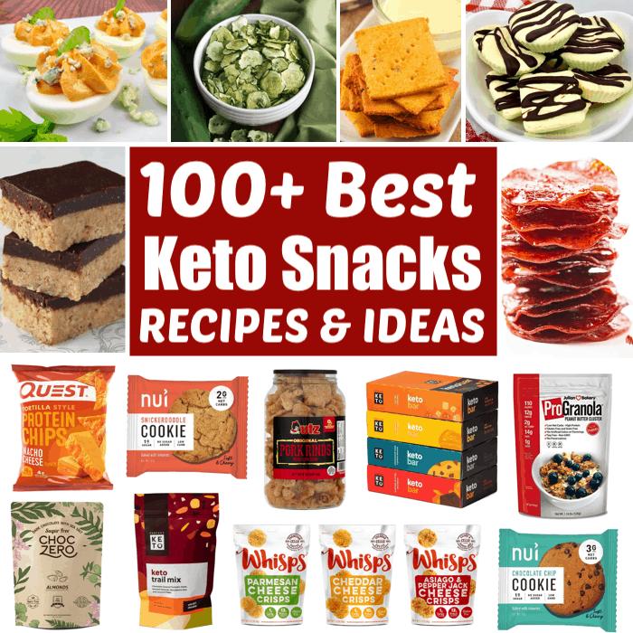 collage of Keto snacks