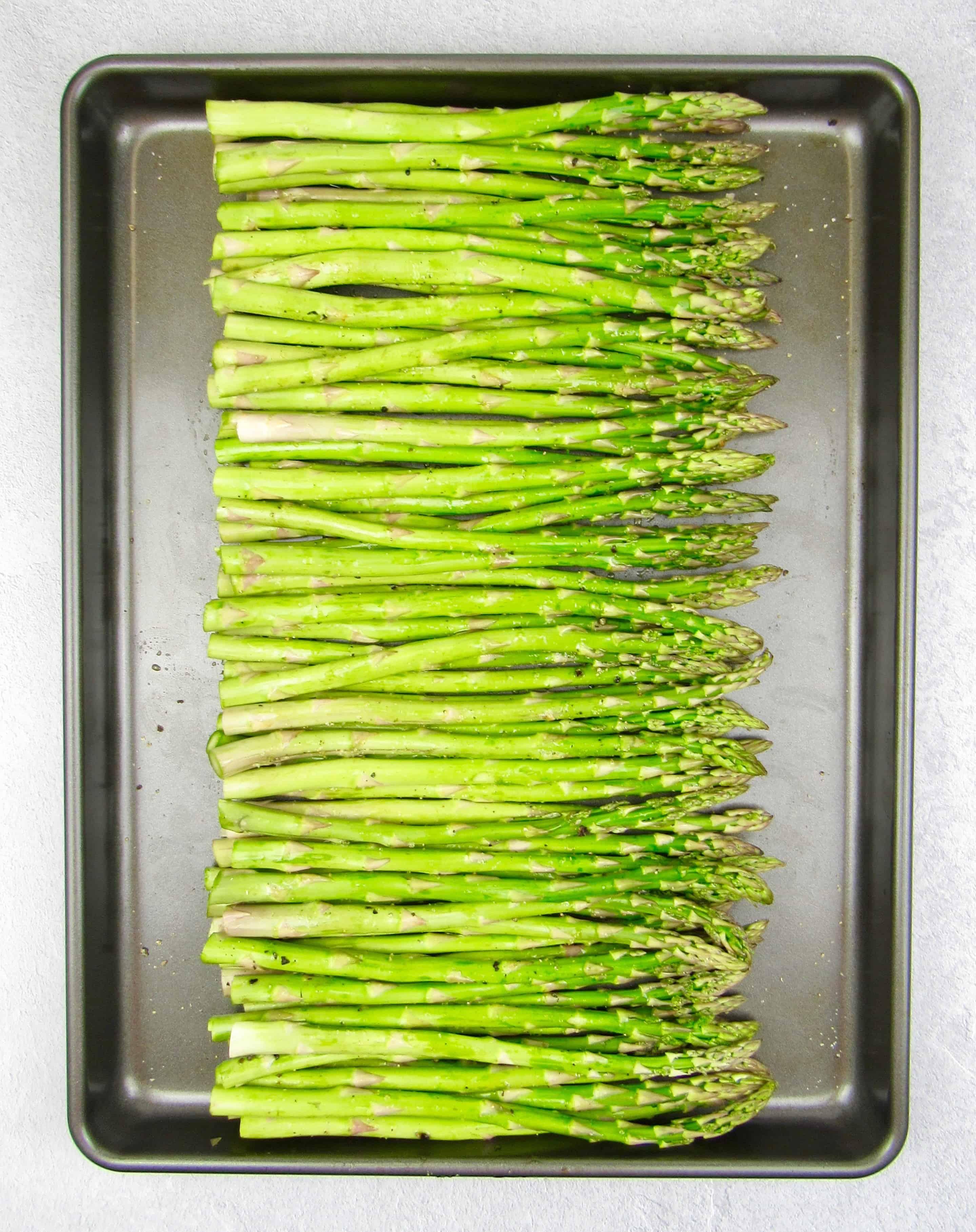 Asparagus on sheetpan