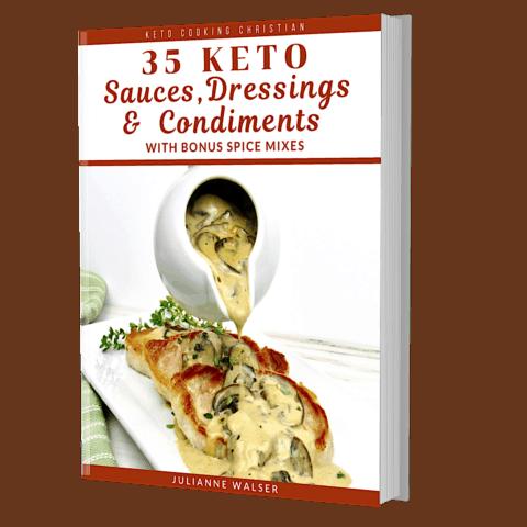 Keto Sauces, Dressings & Condiments 3D Cover