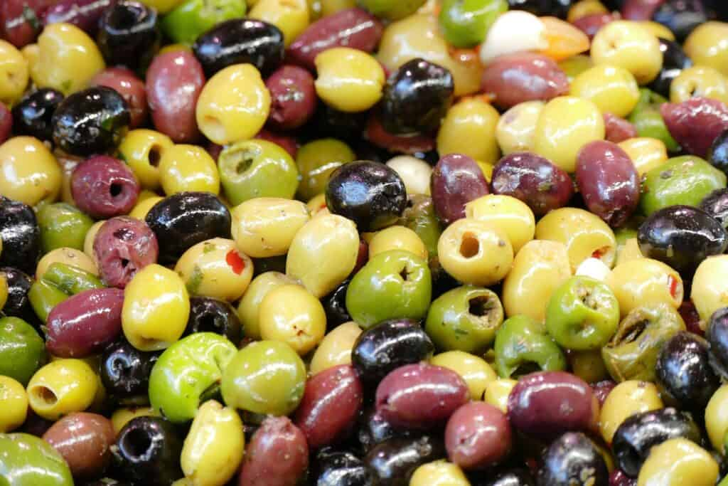 mixture of different olives