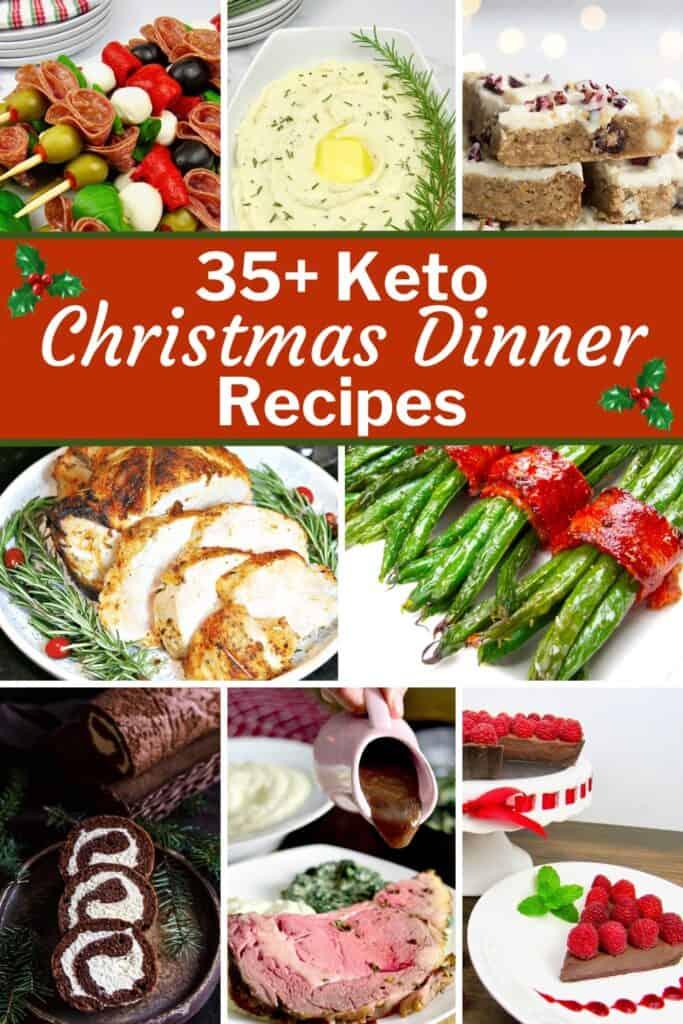 PIN 35+ Keto Christmas Dinner Recipes
