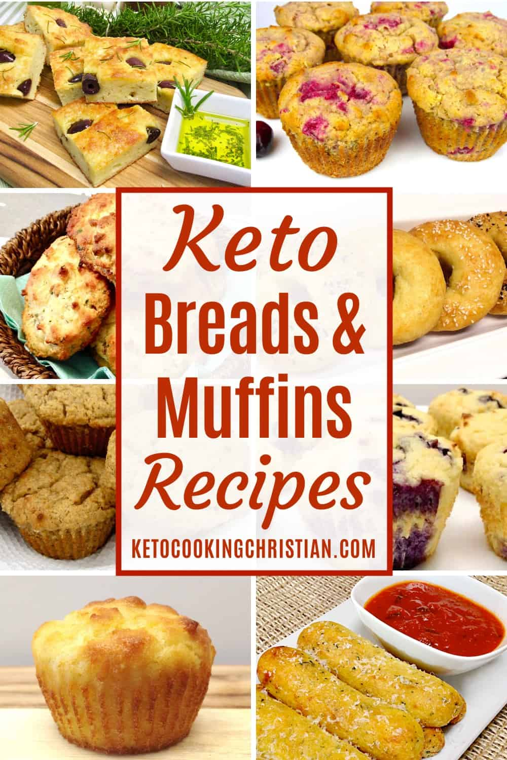PIN Keto Breads & Muffins Recipes