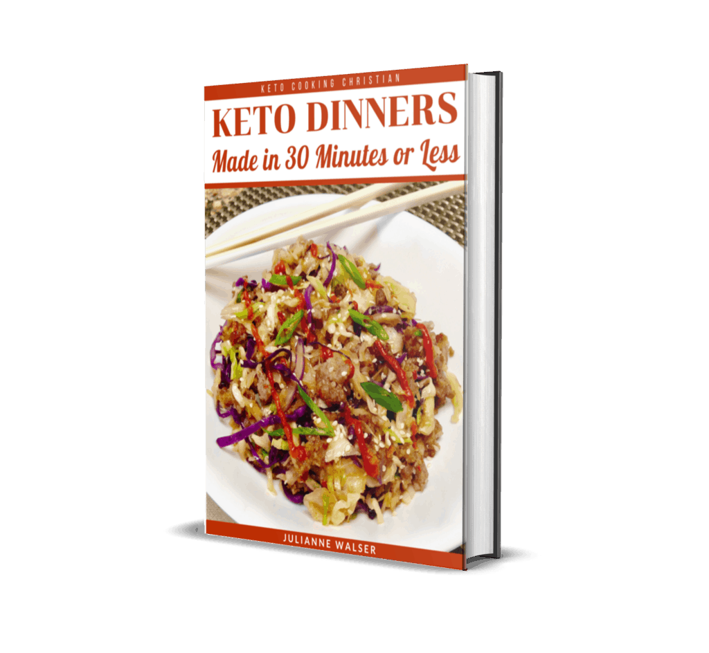 Keto Dinners Made in 30 Minutes or Less 3D Cover