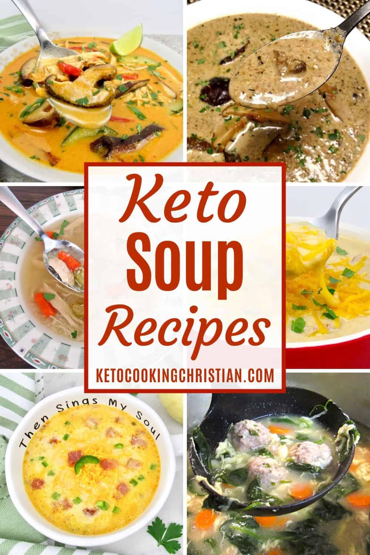 PIN Keto Soup Recipes
