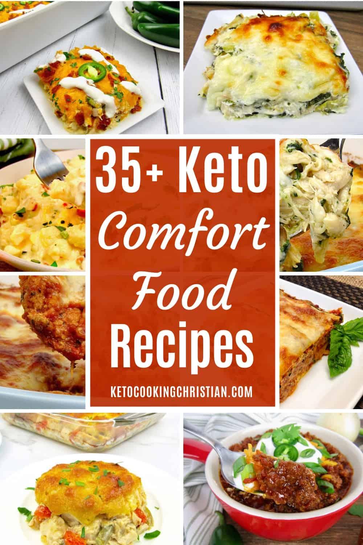 PIN 35+ Keto Comfort Food Recipes