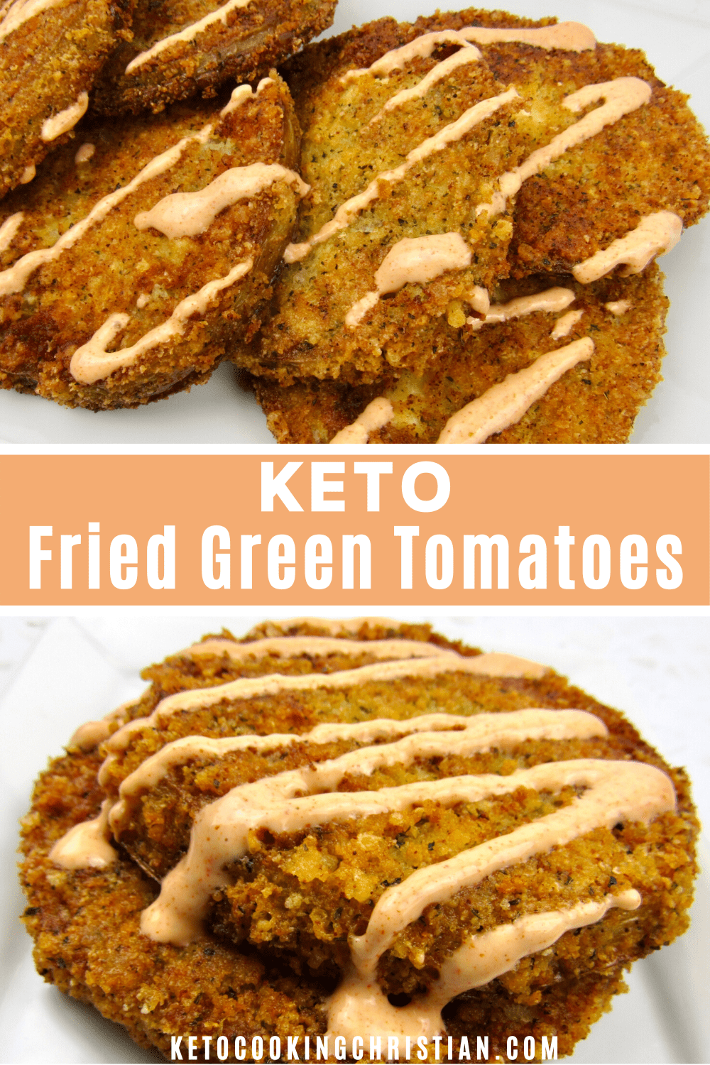 PIN Keto Fried Green Tomatoes - Low Carb/Gluten-Free