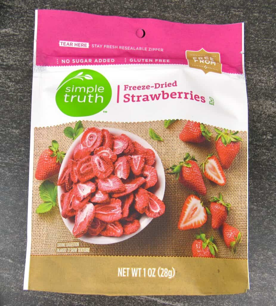 Simple Truth freeze dried strawberries package