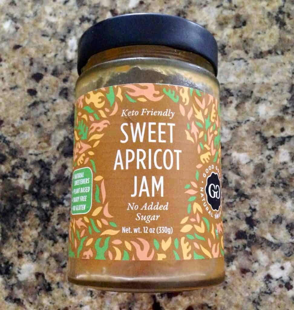 jar of Good Good Sweet Apricot Jam