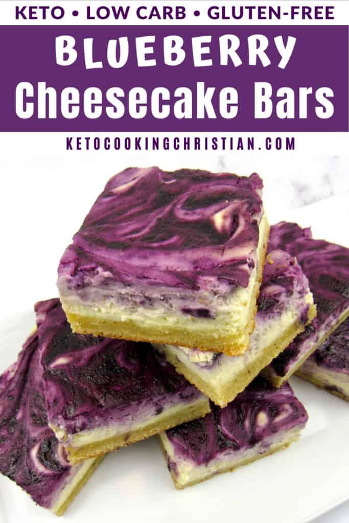 PIN Keto Blueberry cheesecake bars
