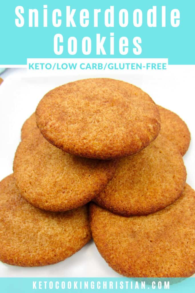 PIN Keto Snickerdoodle Cookies - Soft & Chewy!