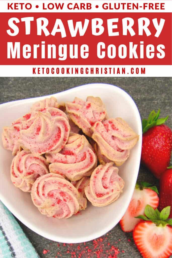 PIN Keto Strawberry Meringue Cookies